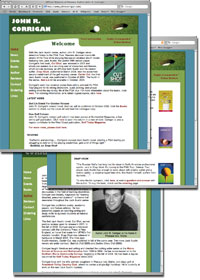 Screenshots of John R. Corrigan's website